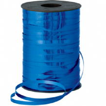 Metallic Blue Ribbon for Balloons (250m x 5mm)